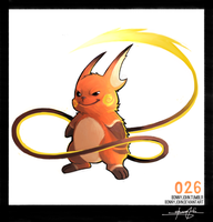 Raichu!  Pokemon One a Day by BonnyJohn