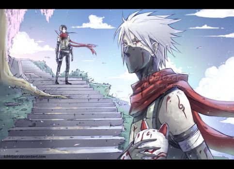 Kakashi and Itachi anbu by Kibbitzer