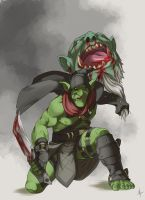 Styx - i know i should have brought a bigger knife by SeiKyo-Art