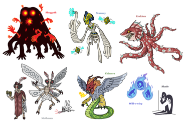 Creature doodles: monster manual 2 by JWNutz