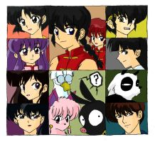 Ranma cast by methcooker
