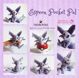 Espeon Pocket Pal Plush by Ishtar-Creations