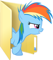 Custom filly Rainbow Dash folder icon by Blues27Xx