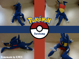 Garchomp Plush by K3RI1