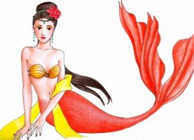 oriental mermaid china by hananovie