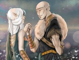 Dragon Age Inquisition: Solavellan - Last dance by RedViolett
