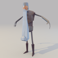 Lowpoly Knight (WIP) by lithium-sound