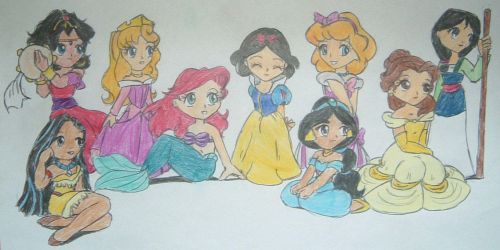 Disney Princesses by Street-Angel