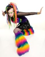 rainbow vomit by Countess-Grotesque