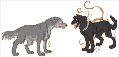 Hellsing - Dog and Puppy by Ravendyn