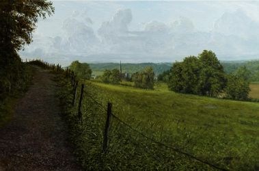 Summery view of a small village by MHandt