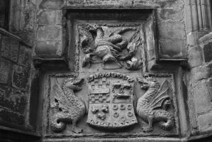Skipton castle - coat of arms by CanisDiabolos