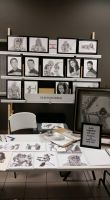 Artist table for David at Burg's Comic Con by DChan75