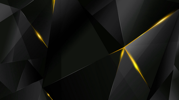 Wallpapers - Yellow Abstract Polygons (Black BG) by kaminohunter