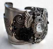 Steampunk - Gothic Cuff Watch1 by Aranwen