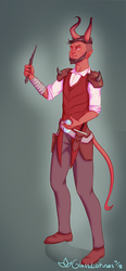 Eldritch the Tiefling by GlassLotuses