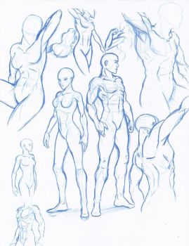 Figure Drawing sketches by WMDiscovery93