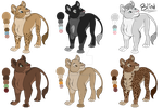 Kobayashi Pride Adolescent Adopts (3/6 OPEN) by DeadThorn-Draws