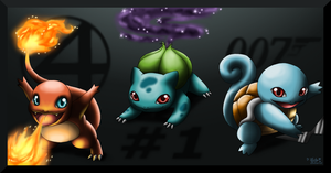 1st Generation Starters by LuckyLucario