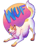 Wuf Badge by UKthewhitewolf