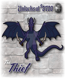 The Thief Dragon Enamel Pin Design by The-GoblinQueen