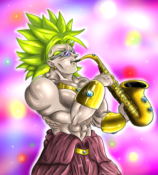 Ozo-Broly with Sax by ShynTheTruth