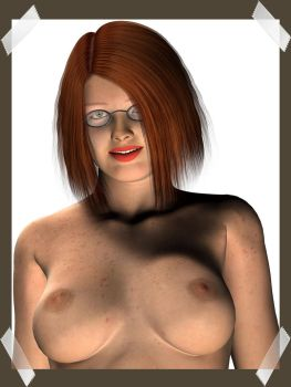 portrait of me 1, nude version by AngelFyre32