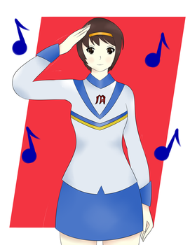 Haruhi Drum Major by sentaikick