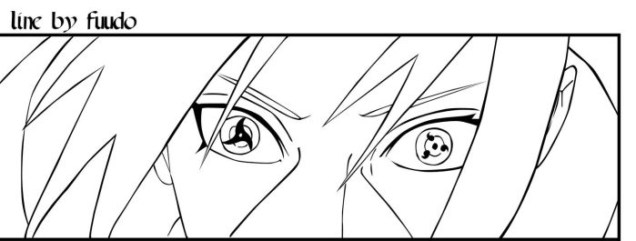 Itachi lineart by fuudo