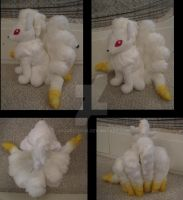 2:1 Ninetales plush by aSourLemon