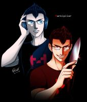 Markiplier vs Darkiplier by cerae28