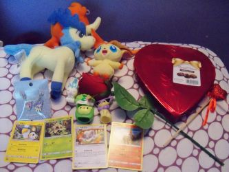 What I got in Pokelectronics mystery box Valentine by SusanLucarioFan16