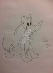 Mickey Mouse - Pluto Drawing by SpiritAndDisneyFreak