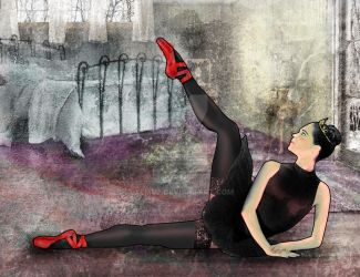 Illustration of a fictional ballerina by xemuz