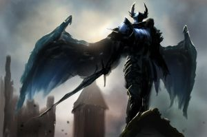 Sky Demon / Shadow Knight by conorburkeart