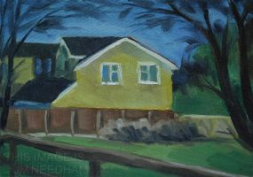 Yellow House I by JMNeedhamArt