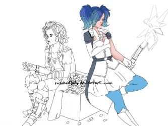 Evie and Maeve wip2 by MadieDalily