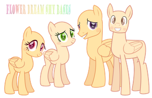 we are a Shy family base by FlowerDreamShy