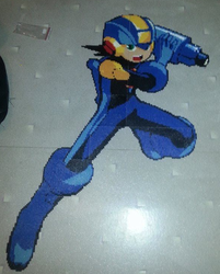 Megaman.EXE made way too big by Dannedanker