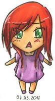 Chibi with red hair by jentsukase
