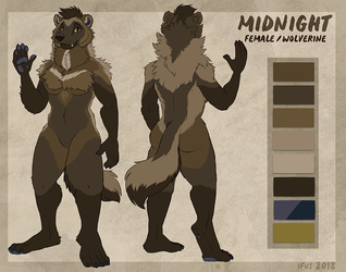 Reference Sheet- Midnight_Mustelid by Ifus