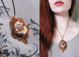 Colorful Agate Pendant by diana-irimie