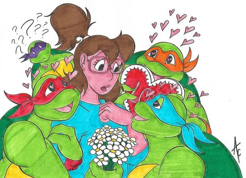 Turtles fall in love with Irma by AliceCherie