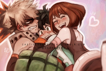 Boku no Hero academia by DeerAzeen