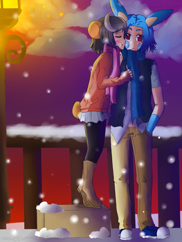 A Kiss for the New Years by noelliegrammie