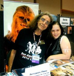 Tifa Meets Peter Mayhew by SpellboundFox