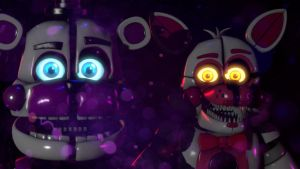 Funtime Foxy and Funtime Freddy by marionetteloverfnaf