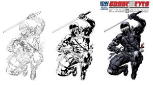 Snake Eyes Storm Shadow 13 cover process by RobertAtkins