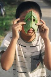 The leaf mask. by nonpareildoll