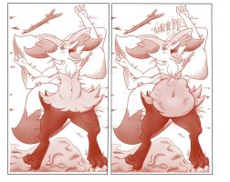 Process of devouring, from before to after by Lycantrofurry